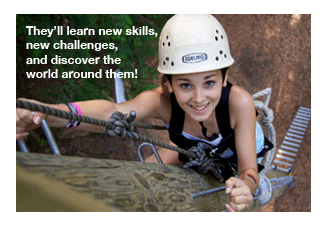 they'll learn new skills, new challenges at camp